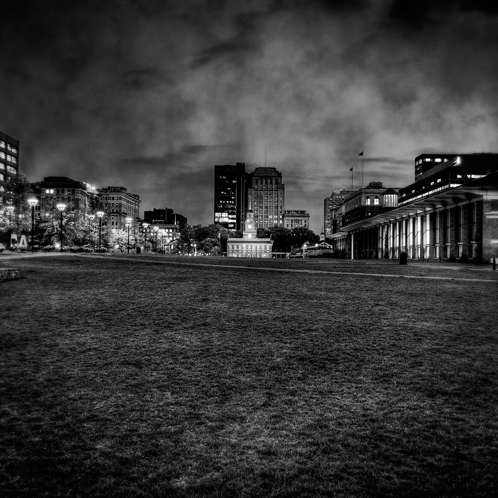 Independence Mall At Night Philadelphia