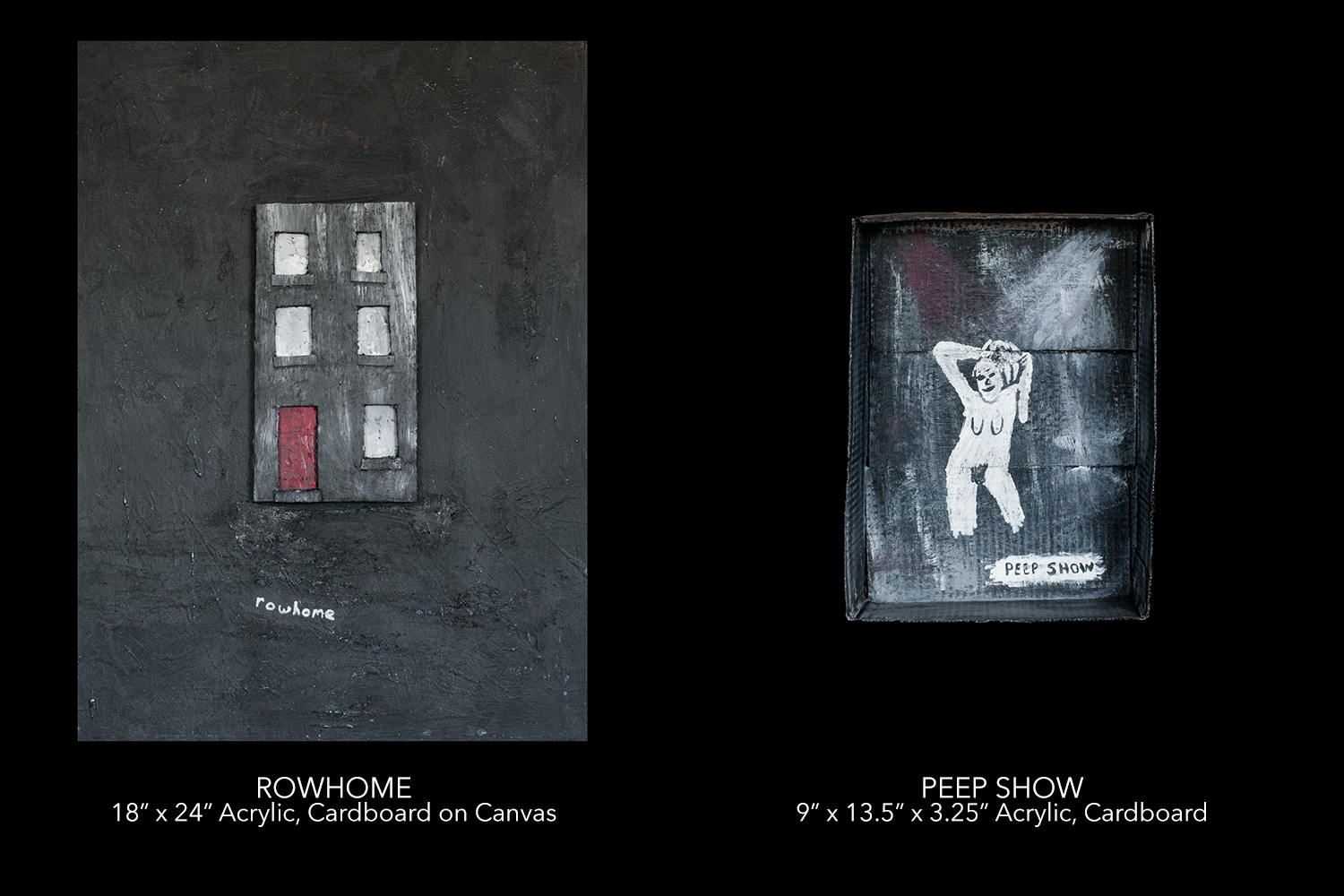 Two paintings from Through My Mind, Darkly