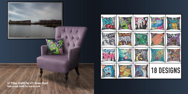 Graffiti Pier Pillow Collection